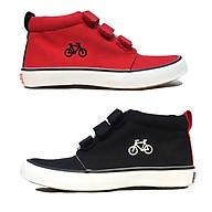 Giày bốt cổ lửng cho bé trai bé gái xuất dư, phong cách và cá tính với 3 quai dán chắc chắn - màu đen màu đỏ Bicycle Sr7 thumbnail