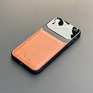 Ốp lưng da kính cao cấp dành cho iPhone XR - Màu vàng nâu - Hàng nhập khẩu - DELICATE thumbnail