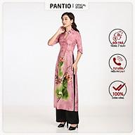 Áo dài nữ cổ chữ V cách điệu tay lỡ hoạ tiết hoa BDA50017 - PANTIO thumbnail