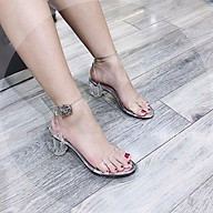 Sandal Quai Trong Gót Trong 5cm Hàng Loại 1 May Viền Lót thumbnail