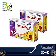 COMBO 2 HỘP OVUMCARE Forte - Viên uống tăng khả năng thụ thai tự nhiên - Hỗ trợ điều trị hiếm muộn, vô sinh ở nữ giới - Nhà máy liên doanh với Medinej - USA và đạt chuẩn GMP - WHO thumbnail