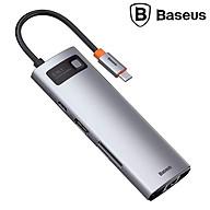 Hub chuyển đổi đa năng 8 trong 1 Baseus CAHUB-CV0G ( Type-C to HDMI USB3.0 LAN SD Card Reader Type C PD 100W, Multifunctional HUB) - HÀNG CHÍNH HÃNG thumbnail
