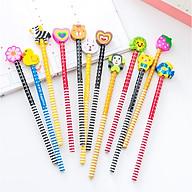 [COMBO 3 Chiếc] Bút chì Hàn Quốc nhiều màu siêu dễ thương - Bút chì viết cho học sinh thumbnail