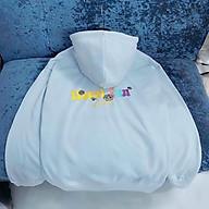 Áo khoác hoodie In hình Floral Fun dành cho nam nữ có dây kéo unisex form rộng Kèm Ảnh Thật thumbnail