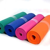 Thảm tập Yoga độ dày 10mm, mềm mại, êm ái, chống trơn trượt (Giao màu ngẫu nhiên) thumbnail