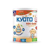 Sữa bột dinh dưỡng Kyoto KIDS GOLD Bổ sung sữa non giàu kháng thể giúp trẻ ăn dặm trong những tháng đầu đời NUTRI PLUS 0-12 tháng- 900G thumbnail