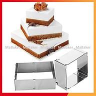 Khuôn ring hình vuông cao cấp điều chỉnh độ dài 15cm - 27cm - MaBaker thumbnail