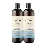 Combo Phục Hồi Tóc Hư Tổn Gãy Rụng Sukin Hydrating Shampoo 500ml & Sukin Hydrating Conditioner 500ml thumbnail