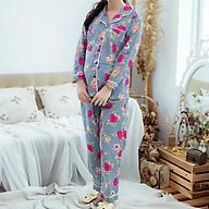 Bộ bầu pyjama kate tay dài quần dài Emum thumbnail