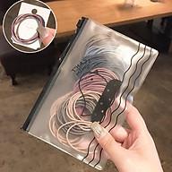 Set 100 Chun Buộc Tóc Hàn Quốc Màu Hỗn Hợp Kèm Túi Đựng Cực Đẹp thumbnail