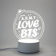 Đèn ngủ ARMY love Bts thiết kế sáng tạo độc đáo thumbnail