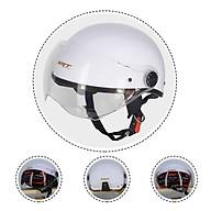 Mũ Bảo Hiểm Nửa Đầu SRT Kính Càng Viền Đồng Cao Cấp Màu Trơn thumbnail