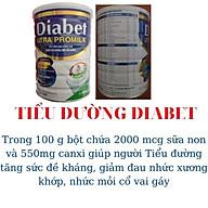 Combo 3 lon Sữa tiểu đường Diabet Utra Promilk 900Gr Giúp ổn định đường huyết, tăng sức đề kháng, giảm biến chứng tiểu đường, giảm mệt mỏi, sút cân thumbnail