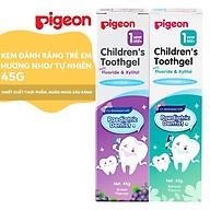 Kem đánh răng cho bé Pigeon 45g - hương Nho hương Tự nhiên thumbnail