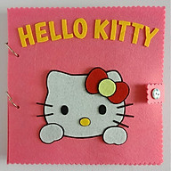 Sách vải Mèo Hello Kitty (chủ đề Picnic) hình thật 100% - Đồ chơi sách vải cho bé gái thumbnail