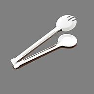 Dụng cụ kẹp gắp thực phẩm đồ ăn bằng Inox không gỉ - Loại đầu tròn thumbnail