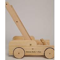 Xe tập đi cho bé 2 chức năng Vừa làm xe tập đi, xe kéo đồ chơi bằng gỗ thông 100% thumbnail