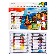 Màu Bột Gouache Dạng Tuýp 12Ml Deli - 5 12 24 Màu - 1 Hộp - EC11 thumbnail
