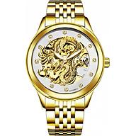 Đồng hồ chạy cơ Automatic nam dây thép TEVISE Mặt Rồng Vàng thumbnail
