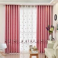 (QUÀ TẶNG CHO BÉ) Rèm Thêu Kitty xinh xắn, rèm cửa màu hồng trang trí phòng ngủ trẻ em thumbnail