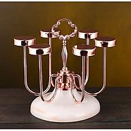 Giá úp ly cốc Inox mạ vàng hồng đế sứ - ANTH338 thumbnail