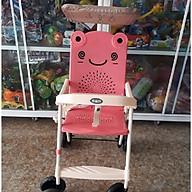 Xe đẩy du lịch (có mái che, phanh chân, bảo hiểm, túi đồ)- màu cho bé gái- chọn màu ngẫu nhiên thumbnail