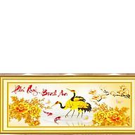Tranh thêu chữ thập Phú Quý Bình An(78 39cm) chưa thêu thumbnail