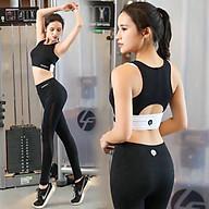 Bộ thể thao phối màu có mút sẵn tập Gym, yoga B007 thumbnail