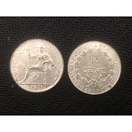 Đồng xu lưu niệm 10 cent hoa xòe Đông Dương 1901 thumbnail