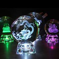 Quà tặng quả cầu pha lê khắc 3D 6CM thumbnail