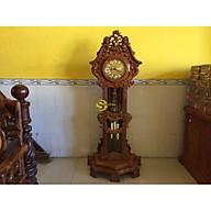 Đồng hồ gỗ hương hoa lan tây DH02 thumbnail