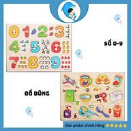 Bảng Núm Gỗ Giúp Bé Học Chữ, Số, Hình Khối, Động Vật, Trái Cây, Phương tiện thumbnail