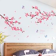 Decal trang trí chất liệu PVC loại 1 dày dặn, sắc nét, trang trí tết, quán cafe- Đào hồng- mã sp QR9197 thumbnail