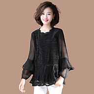 Plus size shirt women s fall new style fat sister age-reducing western style fashionable lace stitching cover belly slim shirt thumbnail
