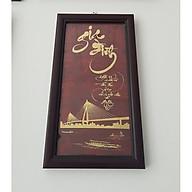 Tranh thư pháp dát vàng chữ Gia Đình (KT19x34cm) thumbnail