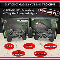 Máy chơi game cầm tay 4 nút HDMI 3500 trò chơi cổ điển PS1 Nitendo switch FC Compact FC thumbnail