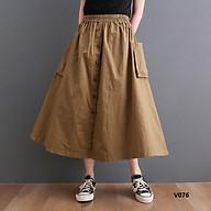Chân váy dài bổ cụ dọc kém 2 túi bên cá tính. thumbnail