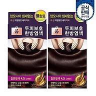 RYO Jayangyoonmo Gray Hair Dye 4.5 Dark Brown 60g x 2P thumbnail