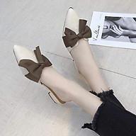 Giày sục nữ đế 2p mũi nhọn thắt nơ xinh xắn-SU3 thumbnail