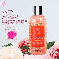 Sữa tắm Nhật cao cấp cánh hoa hồng 500ml- cánh hoa Rose nguyên chất giúp tươi trẻ làn da mịn màng, mềm mại và trắng hồng thumbnail