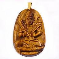 Mặt Phật Hư Không Tạng Bồ Tát đá mắt hổ 3.8cm thumbnail