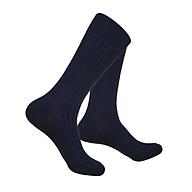 Tất vớ nam dài cao cấp cotton silk đơn sắc 2 tone màu xanh thumbnail