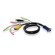 Cáp kết nối KVM Aten 2L-5305U chuẩn USB kèm Audio 5.0 mét - Hàng chính hãng thumbnail