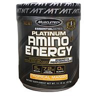 BCAA Platinum Amino Plus Energy của Muscle Tech hương Tropical Mango (XOÀI) hộp 30 lần dùng hỗ trợ tăng sức bền, sức mạnh, đốt mỡ giảm cân mạnh mẽ, phục hồi cơ nhanh chóng cho người tập GYM và chơi thể thao thao thumbnail