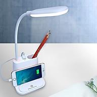 Đèn LED đọc sách H104 thiết kê thông minh Có Hộp Bút Và Giá Để Điện Thoại áp dụng công nghệ hiện đại thumbnail