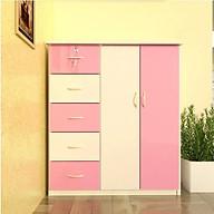 Tủ nhựa Đài Loan 2 cánh 5 ngăn T305 màu hồng (106 x 45 x 120 cm) thumbnail
