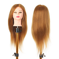 Training Head Long Hair Mannequin Training Head for Cosmetology Synthetic Real Hair Styling Hairdressing Manikin Head thumbnail