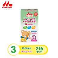 Sữa Morinaga số 3 Kodomil 216g cho bé từ 3 tuổi hương dâu, hương vani (Không tem đổi quà) thumbnail