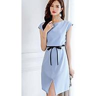 Đầm ôm tay cộc xẻ tà trước ArcticHunter, thời trang trẻ, phong cách Hàn Quốc (Xanh dương) thumbnail