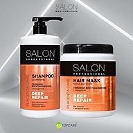 Bộ gội xả Salon Professional phục hồi sâu giúp làm sạch tóc khỏi bụi bẩn và các hóa chất tạo kiểu - 2000ml thumbnail